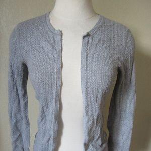 Victoria's Secret Gray pointelle Cardigan Sweater
